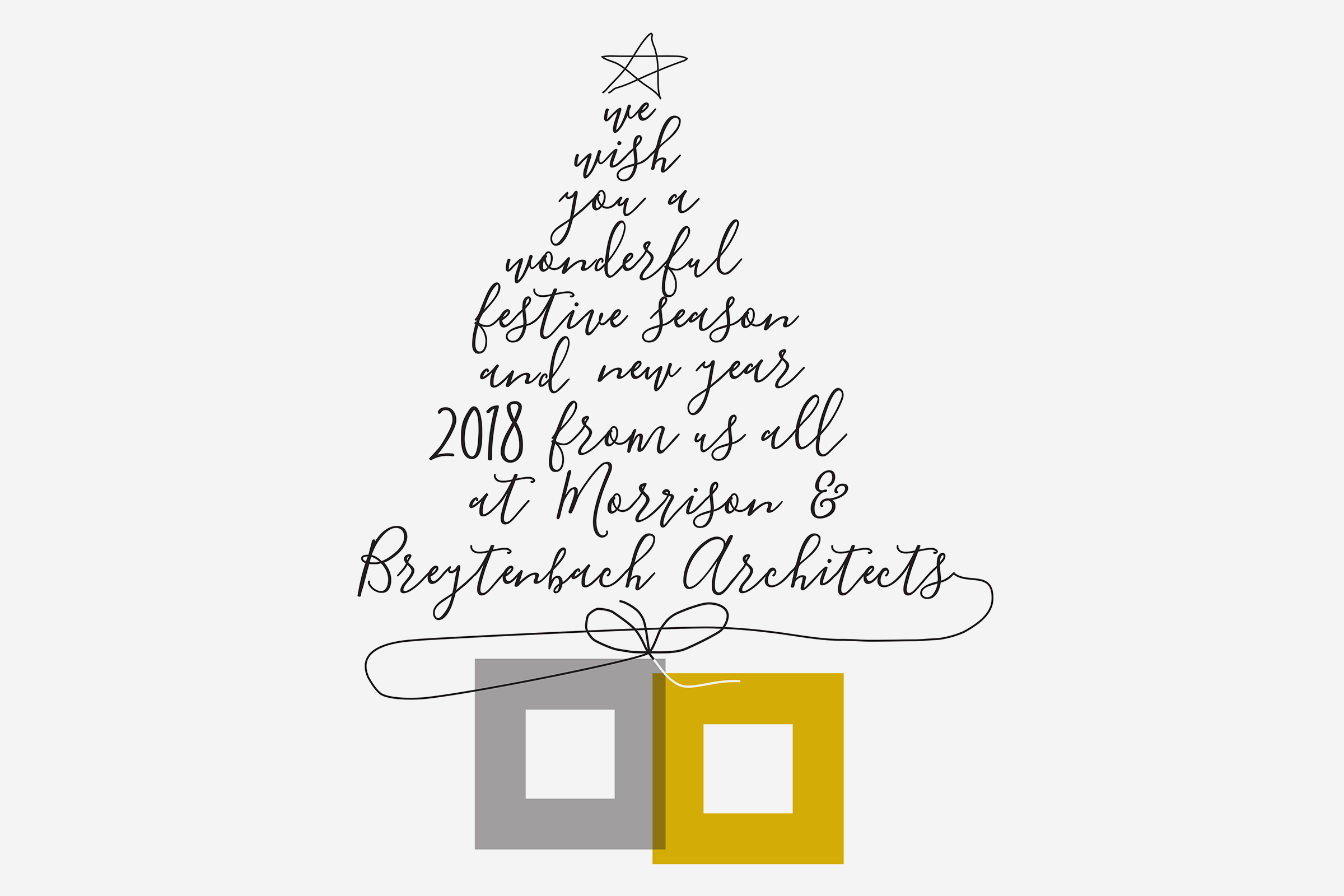 We wish you a wonderful festive season and new year 2018 from us all at Morrison & Breytenbach Architects!