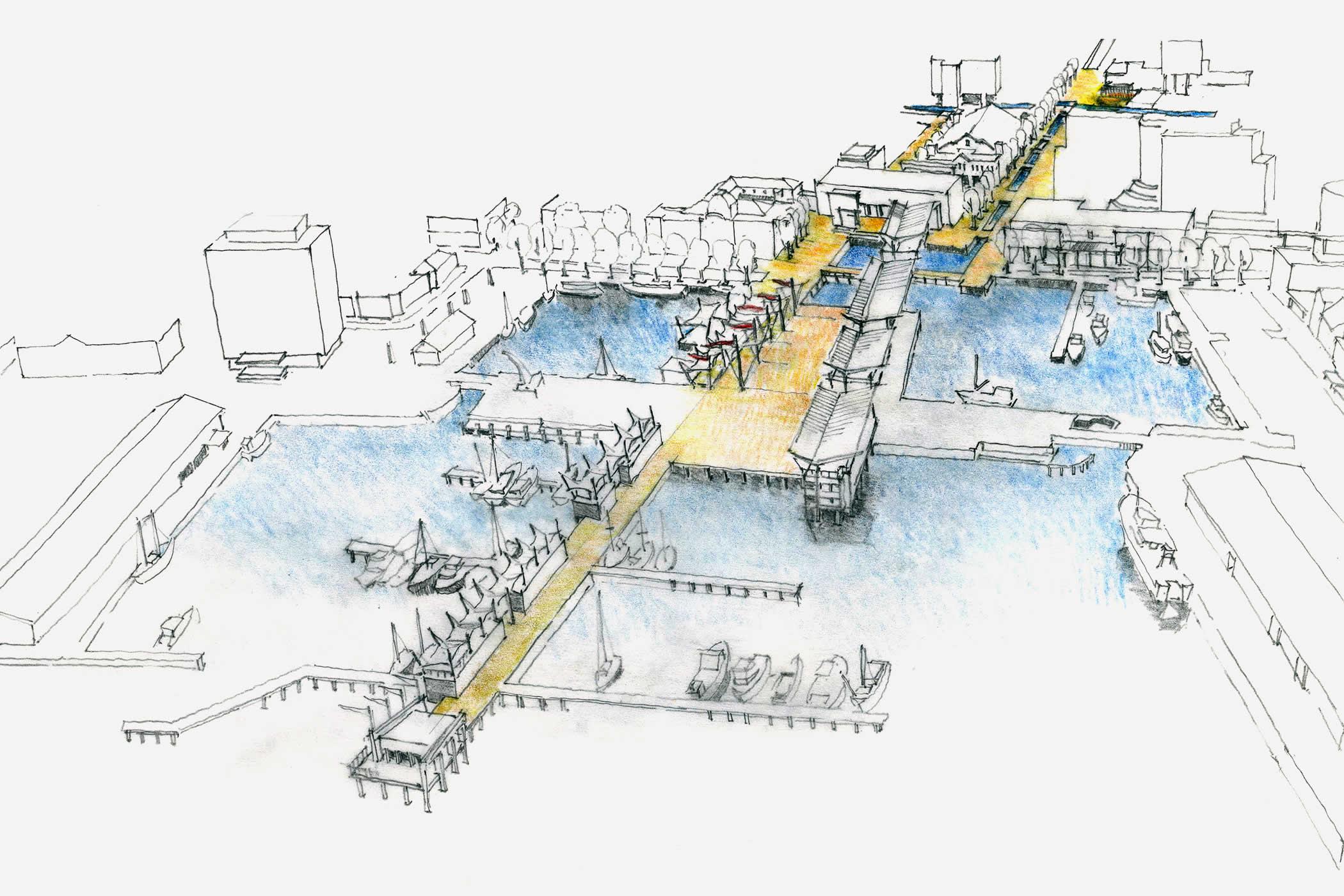 Online 3d Drawing Hobart Waterfront International Design Competition Hobart